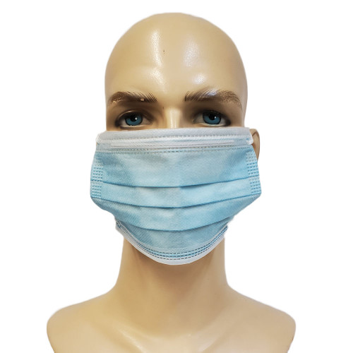 Disposable 3-ply Face Mask with Ear Loop Blue Box of 50 Pieces