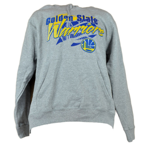 NBA Golden State Warriors Hoodie Sweater Mens Adult Winter Gray