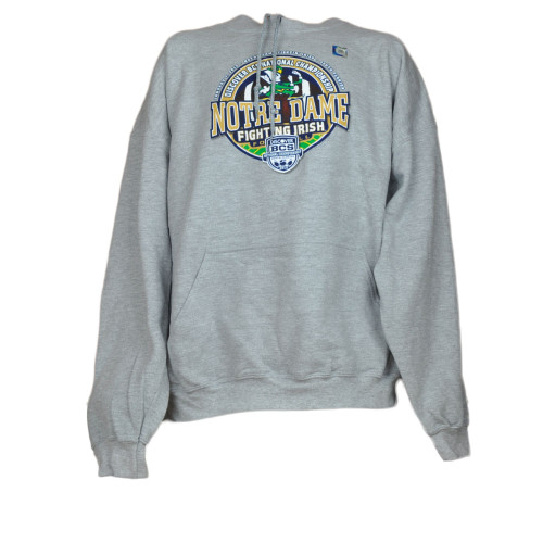 NCAA Notre Dame Fighting Irish Sweater Hoodie Gray Winter Football Man