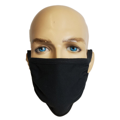 GK Face Mask 100% Cotton Mouth Washable Fashion Reusable Black Men Women Unisex