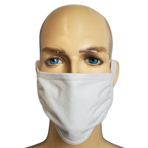 GK Face Mask 100% Cotton Mouth Washable Fashion Reusable White Men Women Unisex