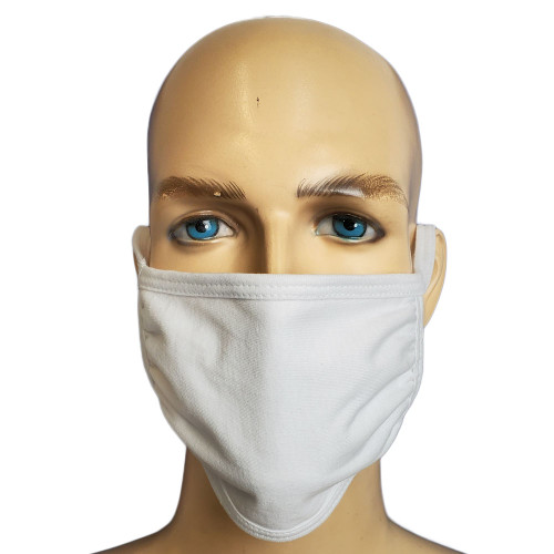 GK Face Mask 100% Cotton Mouth Washable Fashion Reusable White Men Women Unisex