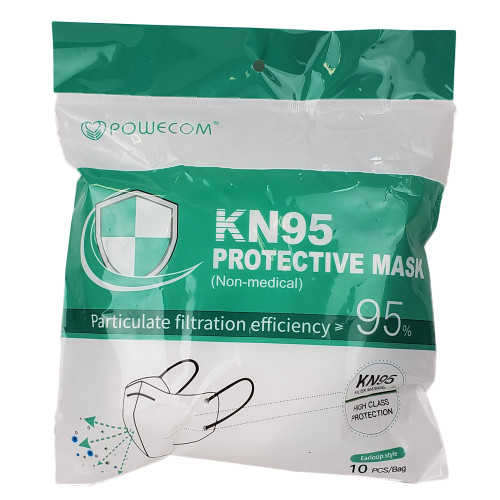 KN95 Protective Mask Non-Medical Particulate Filtration Efficiency 95% 10 Pieces