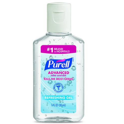 PURELL Advanced Hand Sanitizer Refreshing Gel 1 FL Oz 30 ML Pack Of 12 Pcs D5
