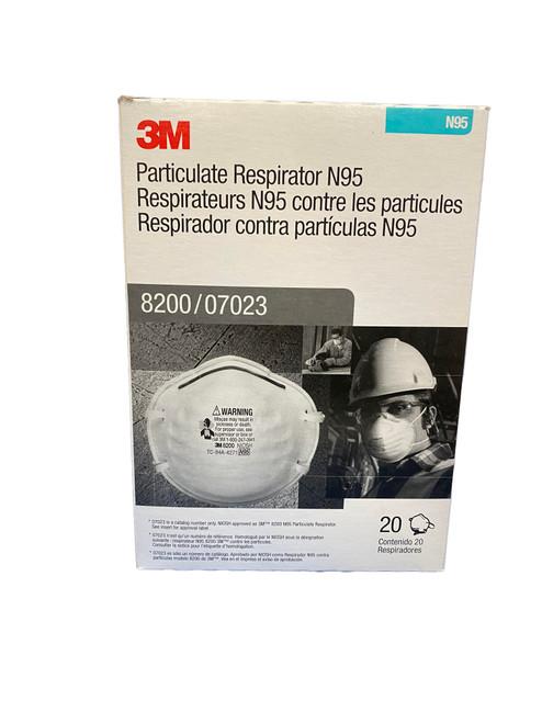 3M Particulate Respirator N95 8200/07023 Mask White  20 Pieces per box