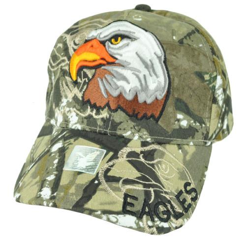 Eagles Camouflage Camo Bird Hat Cap Adjustable Curved Bill Wild Animal Green