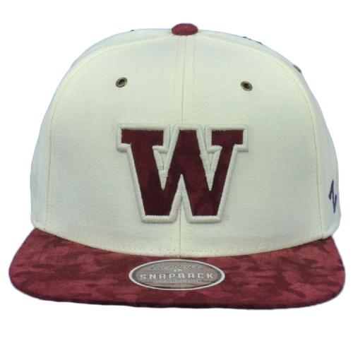 NCAA Zephyr Washington Huskies Flat Bill Two Tone Snapback Adjustable Hat Cap