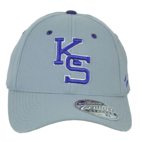 NCAA Zephyr Kansas State Wildcats Fitted Small Gray Stretch Curved Bill Hat Cap