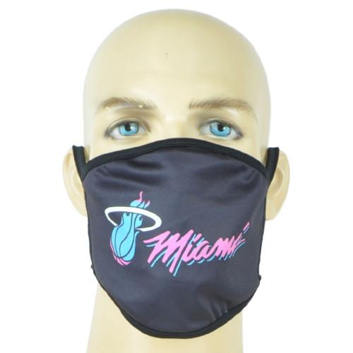 NBA Miami Heat Face Mask Mouth Washable Fashion Reusable Black Man Women Unisex