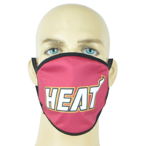 NBA Miami Heat Face Mask Mouth Washable Fashion Reusable Red Man Women Unisex