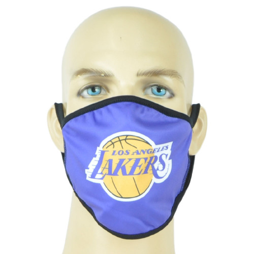 NBA Los Angeles Lakers Face Mask Mouth Washable Fashion Reusable Purple Unisex