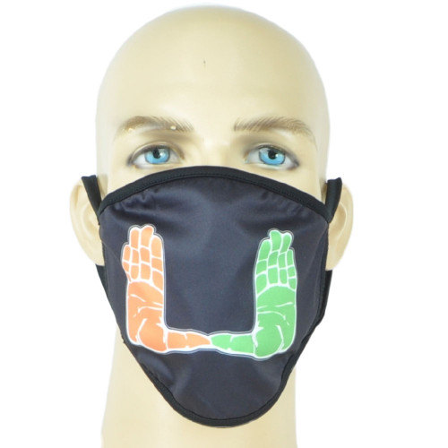 NCAA Miami Hurricanes Face Mask Mouth Washable Fashion Reusable Black Unisex