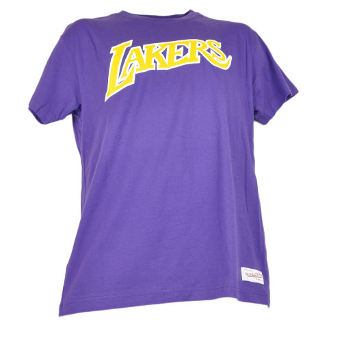 NBA Los Angeles Lakers Men Adults Short Sleeve Light Purple Tshirt Tee Crew Neck