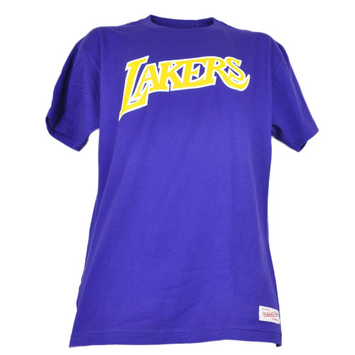 NBA Los Angeles Lakers Purple Mens Adults Short Sleeve Crew Neck Tshirt Tee