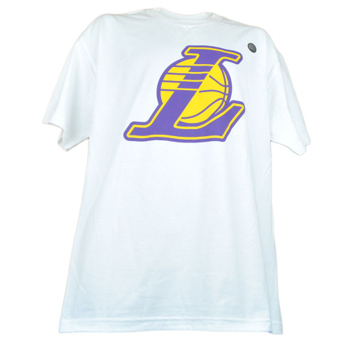 NBA Los Angeles Lakers White Mens Adults Short Sleeve Crew Neck Tshirt Tee