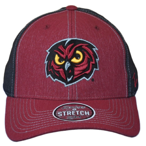 NCAA Zephyr Temple Owls Two Tone Curved Flex Fit Stretch Small Medium Hat Cap
