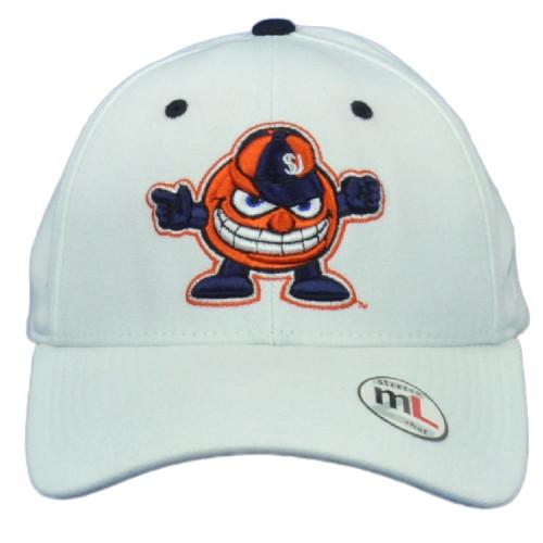 NCAA Zephyr Syracuse Orange White Flex Fit Stretch Medium Large Curved Hat Cap