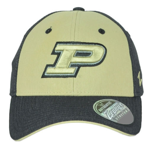 NCAA Zephyr  Purdue Boilermakers Adult Fitted Stretch Two Tone Small Hat Cap