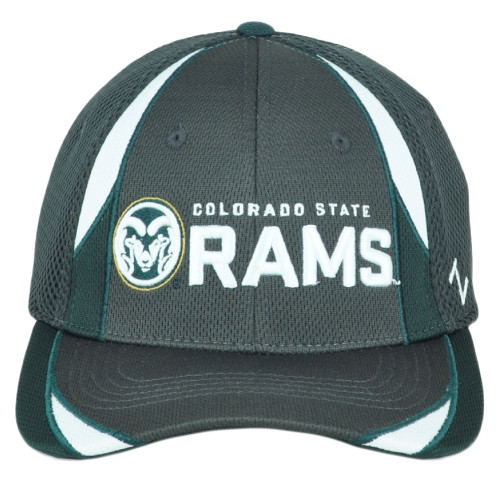 NCAA Zephyr Colorado State Rams Fitted Stretch Adult Small Green Jersey Hat Cap