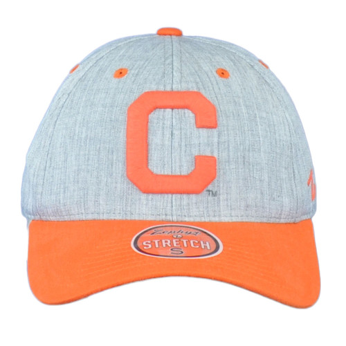 NCAA Zephyr Clemson Tigers Two Tone Adult fitted Stretch Curved Medium Hat Cap