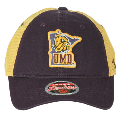NCAA Zephyr Minnesota-Duluth Bulldogs Mesh Adults Adjustable Curved Bill Hat Cap