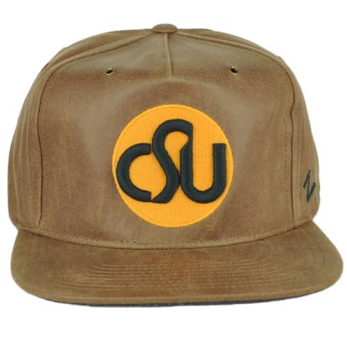 NCAA Zephyr Colorado State Rams Brown Leather Men Adjustable Flat Bill Hat Cap