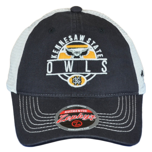 NCAA Zephyr Kennesaw State Owls Mesh Adults Men Adjustable Curved Bill Hat Cap