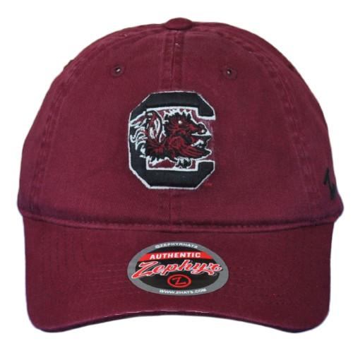 NCAA Zephyr South Carolina Gamecocks Maroon Men Adjustable Curved Bill Hat Cap
