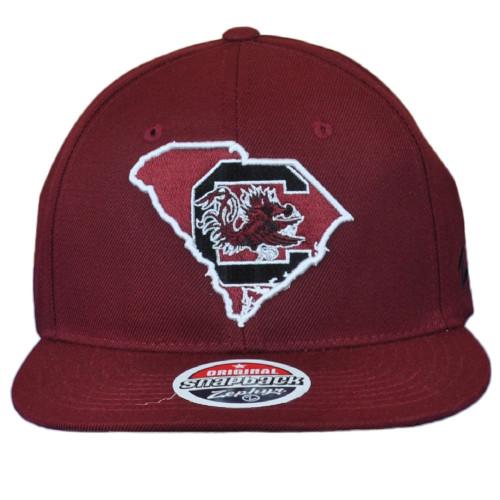 NCAA Zephyr South Carolina Gamecocks Maroon Men Adjustable Flat Bill Hat Cap