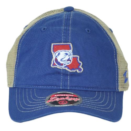 NCAA Zephyr Louisiana Tech Bulldogs Mesh Adult Adjustable Curved Bill Hat Cap