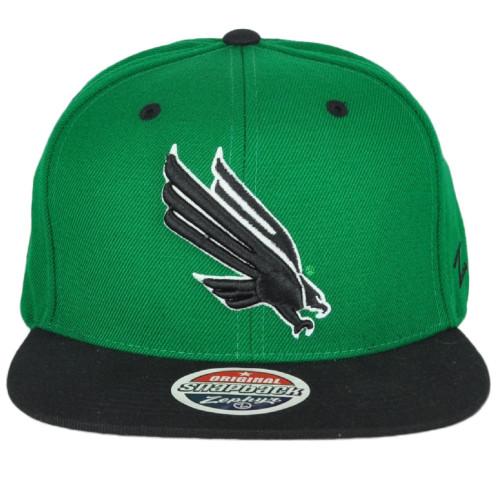 NCAA Zephyr North Texas Mean Green Flat Bill Snapback Two Ton Adjustable Hat Cap