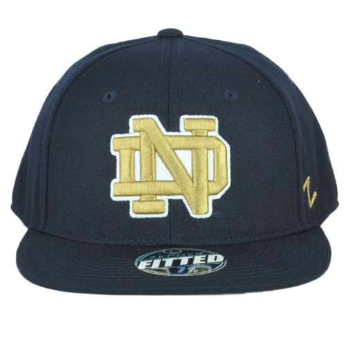 NCAA Zephyr  Notre Dame Fighting Irish Flat Bill Fitted Size 7 1/4 Hat Cap