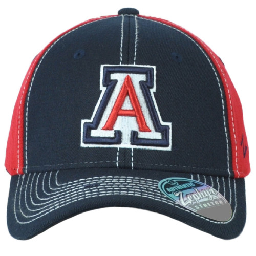 NCAA Zephyr Arizona Wildcats Navy Red Fitted Stretch Small Men Adults Hat Cap