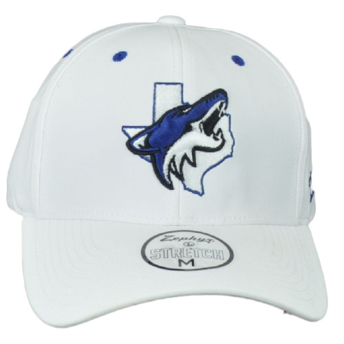 Zephyr Richland Springs Coyotes High School Fitted Stretch Medium Hat Cap White