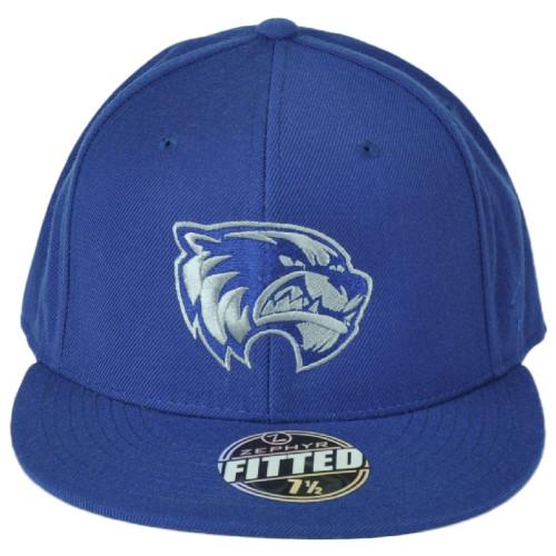 NCAA Zephyr Utah Valley University Wolverines Blue Fitted Size 7 1/2 Hat Cap