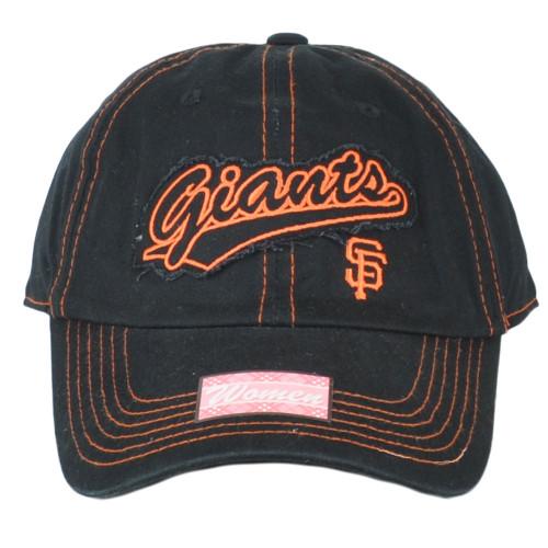 San Francisco Giants Black Navy Womens Fan Favorite Sun Buckle Hat Cap Relaxed