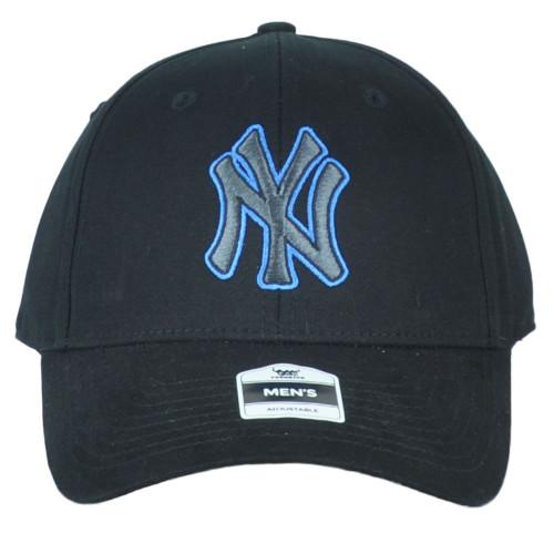 MLB Fan Favorite New York Yankees Blck Structured Curved Bill Adjustable Hat Cap