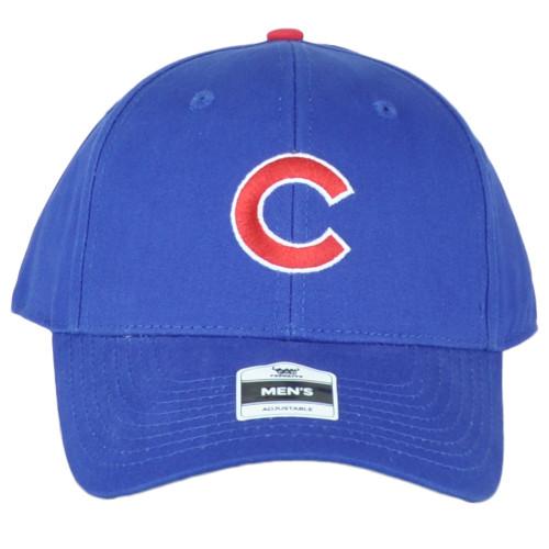 MLB Fan Favorite Chicago Cubs Men Blue Structured Curved Bill Adjustable Hat Cap