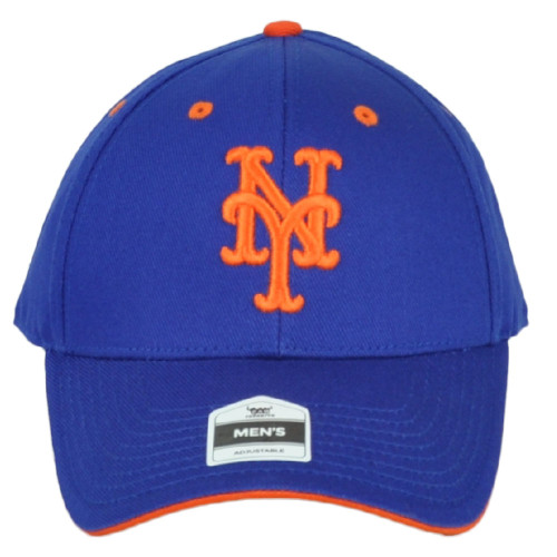 MLB New York Mets Men's Constructed Royal Blue Curved Bill Adjustable Hat Cap