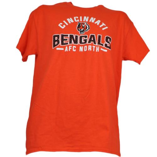 NFL Cincinnati Bengals Crew Neck Men Adult Orange Tshirt Tee Short Sleeve