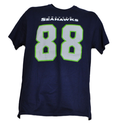 NFL Seattle Seahawks Jimmy Graham 88 Crew Neck Men Tshirt Tee Short Sleeve Navy