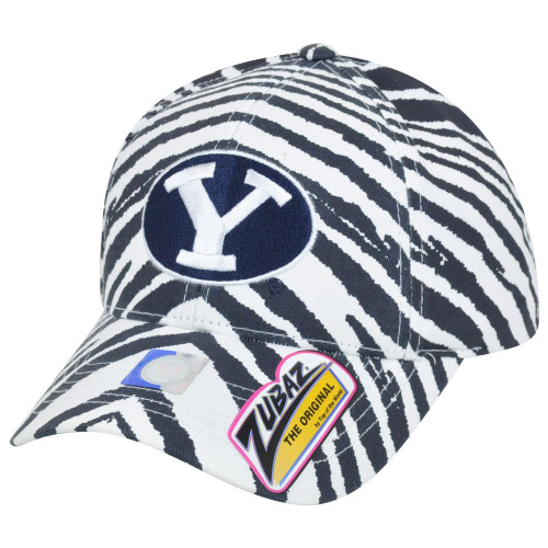 NCAA Brigham Young Cougars Top of the World Smash Zubaz Zebra Snapback Hat Cap