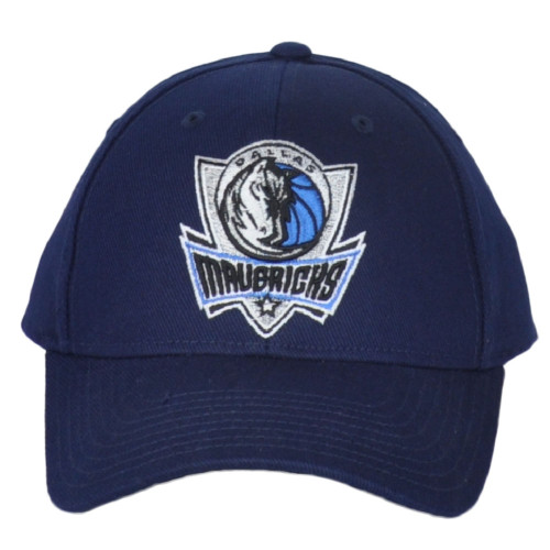 NBA Adidas Dallas Mavericks Western Conferenc Navy Structured Adjustable Hat Cap
