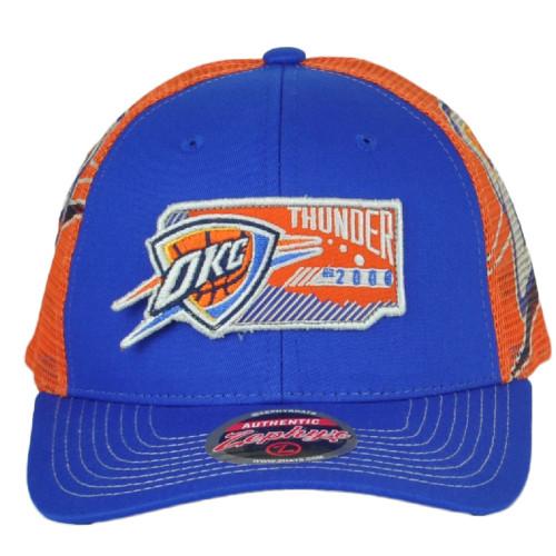 NBA Zephyr Oklahoma City Thunder Interstate Structured Snapback Adjustab Hat Cap