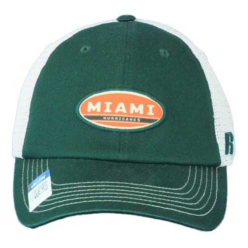 NCAA Russell Miami Hurricanes Canes Snapback Mesh Snapback Adjustable Hat Cap
