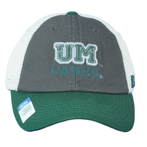 NCAA Russell Miami Hurricanes Canes Snapback Mesh Relaxed Adjustable Hat Cap