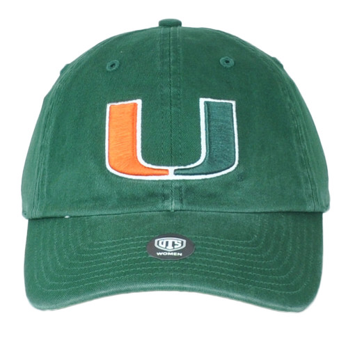 NCAA OTS Challenger Star Miami Hurricanes Relaxed Adjustable Womens Hat Cap