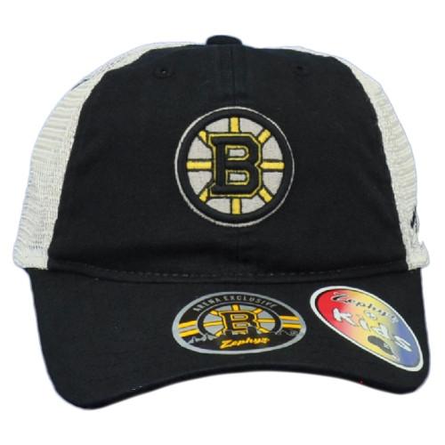 NHL Zephyr Boston Bruins Curved Bill Mesh Adjustable Snapback Youth Kids Hat Cap