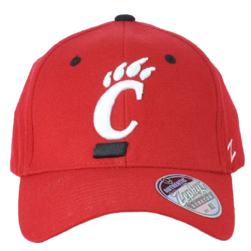 NCAA Zephyr Cincinnati Bearcats Curved Bill Fitted Youth Kids Red Hat Cap