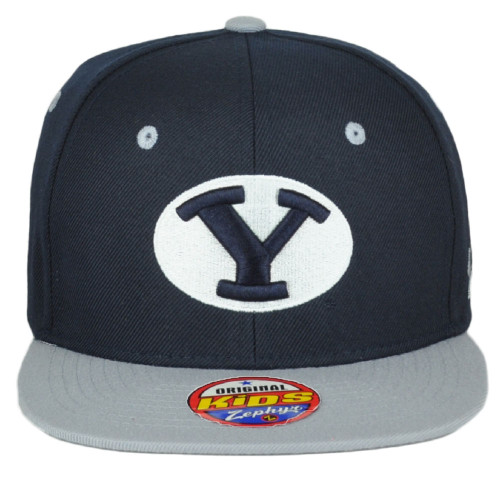 NCAA Zephyr  Brigham Young Cougars BYU Flat Bill Snapback Youth Kids Hat Cap